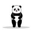 panda dressed like superhero with capes vector image vector image