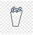 popcorn concept linear icon isolated on vector image