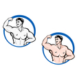 powerful bodybuilder vector image