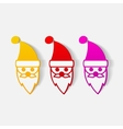 realistic design element Santa Claus vector image vector image