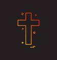 religion cross christian icon design vector image vector image