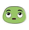 sad emoji face icon vector image