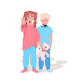 scared terrified children stop family violence vector image