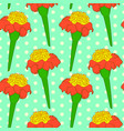 seamless floral pattern with orange tagetes vector image vector image