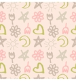 seamless pattern with stars hearts sun moon vector image vector image