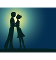 silhouettes man and woman vector image