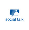 social chat talk logo design inspiration vector image vector image