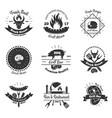 steakhouse vintage emblems set vector image vector image