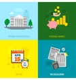 Tax flat set vector image vector image