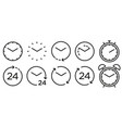 time and clock line isolated icons linear icon vector image