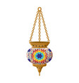 turkish traditional ceramic lantern isolated on vector image vector image