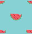 watermelon seamless pattern hand drawn vector image