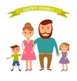 Happy family Father mother son and vector image