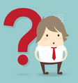 popular businessman with red question mark vector image
