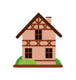 traditional old german house with timber framing vector image
