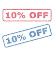 10 percent off textile stamps vector image