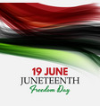 19 june african american emancipation day vector image