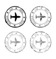 air mail post service black faded round stamp vector image vector image