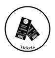 Baseball tickets icon vector image