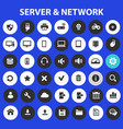 big computer networks icon set trendy line icons vector image vector image