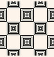 black and white geometric seamless squares pattern vector image vector image