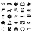 car repair icons set simple style vector image vector image