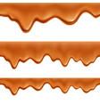 caramel realistic seamless border vector image