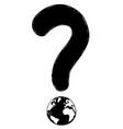 cartoon drawing question mark symbol vector image