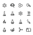 chemical icons vector image vector image