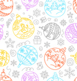 christmas decorations seamless pattern merry vector image vector image