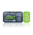 cinema ticket sample template design trendy vector image