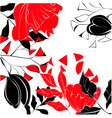 contrast floral background vector image vector image
