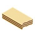 crispy wafer chocolate cream flavor isometric vector image vector image