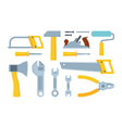 different modern construction tools flat vector image