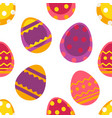 easter holiday colored eggs with ornament seamless vector image vector image