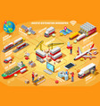 express delivery infographic isometric vector image