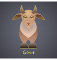 Fanny goat vector image