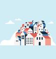 flat geometric buildings minimal city landscape vector image vector image