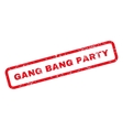 Gang Bang Party Text Rubber Stamp vector image vector image