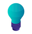 green bulb icon isometric style vector image
