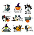 halloween holiday symbol of pumpkin ghost and bat vector image
