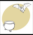 halloween symbols - pumpkin jack o lantern and vector image vector image