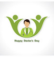 happy doctors day- 1 july stock vector image