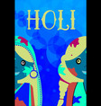 happy holi kids celeration indian traditional vector image vector image