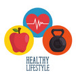 healthy lifestyle concept design vector image