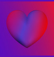 heart colorful neon figuresvalentines day vector image vector image