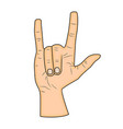 horns hand satan sign finger up gesture isolated vector image