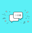 icon dialog messages vector image vector image