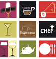 icons food and drink vector image vector image