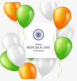 indian republic day background vector image vector image